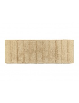 Horizontal Stripes Cotton Bath Runner- Beige