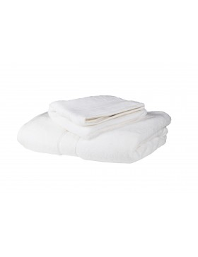 2 Pc White Luxury Zero Twist Cotton 650 GSM Towel Set