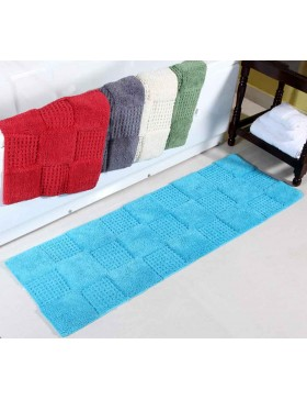 Oxenford Squares Cotton Bath Runner